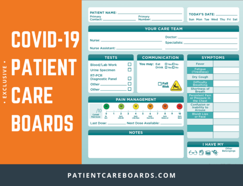COVID-19 Dry-Erase Communication Boards for Hospitals