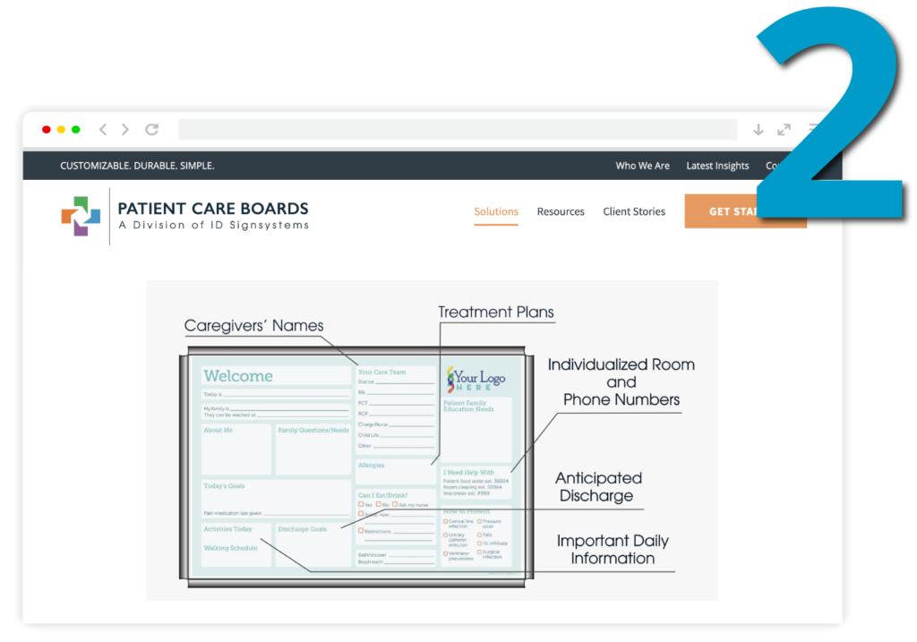 Step Two: Customize your new healthcare communication boards