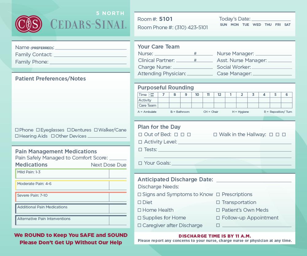 Cedars-Sinai Patient Care Board