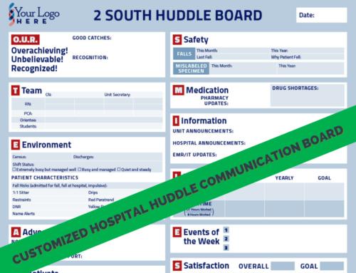 Advantage of Using A Customized Hospital Huddle Communication Board