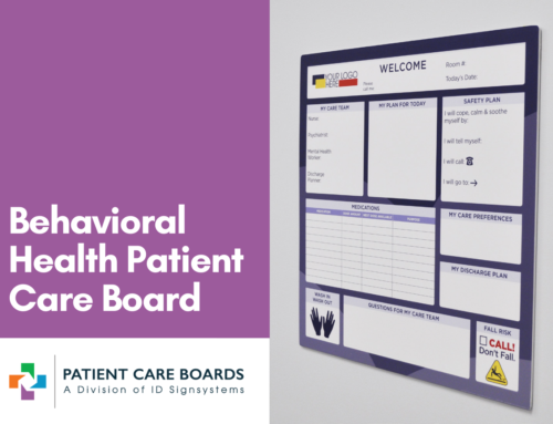 Frameless Behavioral Healthcare Board by Patient Care Boards